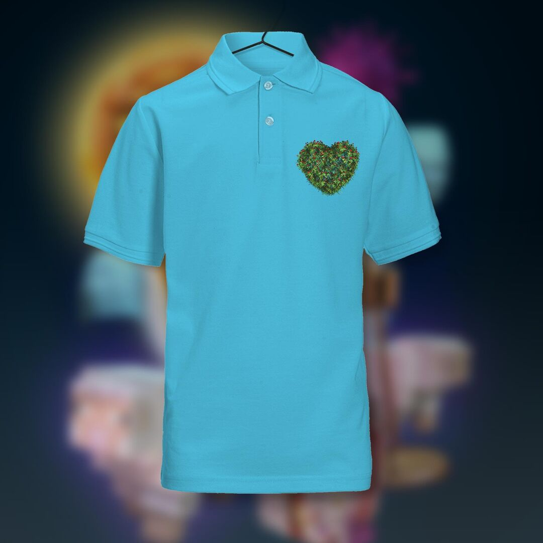 Dames polo shirt met 'Coenen' hart €19,95
