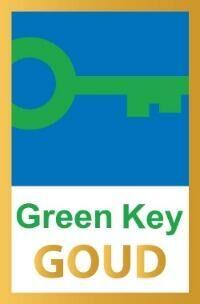 Trotse bezitter van het gouden Green Key milieukeurmerk